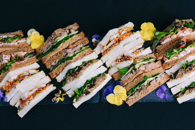 Triangle Platter, 10 sandwiches